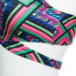 Old Classical Style Spaghetti Strap Tribal Print Padded Women Two Piece Swimset deal