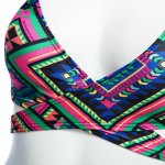 Old Classical Style Spaghetti Strap Tribal Print Padded Women Two Piece Swimset for sale