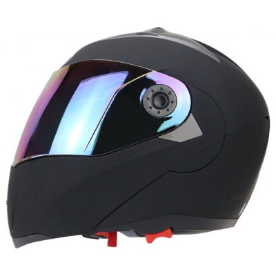 Full Face Motorcycle Helmet Dual Visor with Colorful Shield