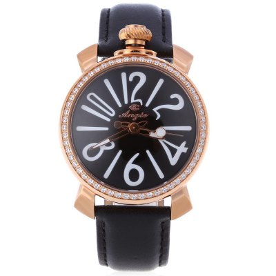 Angie ST7154L Matonini Series Female Rhinestone Quartz WatchWomens Watches<br>Angie ST7154L Matonini Series Female Rhinestone Quartz Watch<br><br>Band Material Type: Leather<br>Band Width: 2cm<br>Case material: Stainless Steel<br>Case Shape: Round<br>Case Thickness: 10mm<br>Clasp type: Pin Buckle<br>Dial Diameter: 4cm<br>Dial Display: Analog<br>Dial Window Material Type: Mineral Glass Mirror<br>Gender: Women<br>Movement: Quartz<br>Style: Fashion &amp; Casual<br>Water Resistance Depth: 30m<br>Product weight: 0.055 kg<br>Package weight: 0.080 kg<br>Product Size(L x W x H): 24.00 x 4.00 x 1.00 cm / 9.45 x 1.57 x 0.39 inches<br>Package Size(L x W x H): 25.00 x 5.00 x 2.00 cm / 9.84 x 1.97 x 0.79 inches<br>Package Contents: 1 x Watch