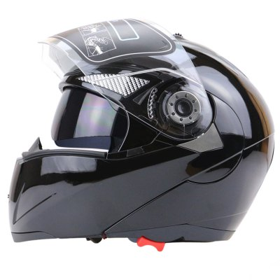 Transparent Shield Dual Visor Full Face Motorcycle Helmet