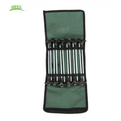 BRS - P1 12pcs Outdoor Camping Awning Survival Spiral Screw Tent Stakes Nail