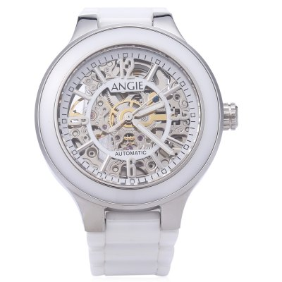 Angie ST7182 Lachadefonds Series Women Auto Mechanical Ceramic WatchWomens Watches<br>Angie ST7182 Lachadefonds Series Women Auto Mechanical Ceramic Watch<br><br>Band Length: 6.3 inch<br>Band Material Type: Ceramic<br>Band Width: 12mm<br>Case material: Stainless Steel<br>Case Shape: Round<br>Clasp type: Folding Clasp with Safety<br>Dial Diameter: 1.38 inch<br>Dial Display: Analog<br>Dial Window Material Type: Sapphire<br>Feature: Luminous<br>Gender: Women<br>Movement: Automatic Self-Wind<br>Style: Simple<br>Water Resistance Depth: 50m<br>Product weight: 0.090 kg<br>Package weight: 0.112 kg<br>Product Size(L x W x H): 16.00 x 3.80 x 1.00 cm / 6.3 x 1.5 x 0.39 inches<br>Package Size(L x W x H): 9.00 x 4.80 x 2.00 cm / 3.54 x 1.89 x 0.79 inches<br>Package Contents: 1 x Angie ST7182 Lachadefonds Series Women Automatic Wind Mechanical Watch