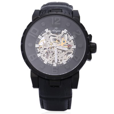 Angie ST7135M Unique Series Male Automatic Wind Mechanical WatchMens Watches<br>Angie ST7135M Unique Series Male Automatic Wind Mechanical Watch<br><br>Band Length: 8.66 inch<br>Band Material Type: Leather<br>Band Width: 22mm<br>Case material: Stainless Steel<br>Case Shape: Round<br>Clasp type: Pin Clasp<br>Dial Diameter: 1.77 inch<br>Dial Display: Analog<br>Dial Window Material Type: Sapphire<br>Feature: Luminous<br>Gender: Men<br>Movement: Automatic Self-Wind<br>Style: Sport<br>Water Resistance Depth: 30m<br>Product weight: 0.093 kg<br>Package weight: 0.115 kg<br>Product Size(L x W x H): 23.50 x 5.00 x 1.50 cm / 9.25 x 1.97 x 0.59 inches<br>Package Size(L x W x H): 24.50 x 6.00 x 2.50 cm / 9.65 x 2.36 x 0.98 inches<br>Package Contents: 1 x Angie ST7135M Unique Series Male Automatic Wind Mechanical Watch