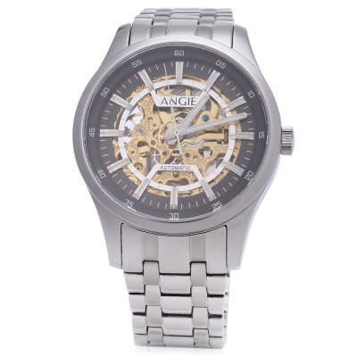 Angie ST7183M Frederis Series Men Automatic Wind Mechanical WatchMens Watches<br>Angie ST7183M Frederis Series Men Automatic Wind Mechanical Watch<br><br>Band Length: 7.09 inch<br>Band Material Type: Stainless Steel<br>Band Width: 18mm<br>Case material: Stainless Steel<br>Case Shape: Round<br>Clasp type: Folding Clasp with Safety<br>Dial Diameter: 1.57 inch<br>Dial Display: Analog<br>Dial Window Material Type: Sapphire<br>Feature: Luminous<br>Gender: Men<br>Movement: Automatic Self-Wind<br>Style: Business,Sport<br>Water Resistance Depth: 50m<br>Product weight: 0.113 kg<br>Package weight: 0.135 kg<br>Product Size(L x W x H): 18.00 x 4.50 x 1.00 cm / 7.09 x 1.77 x 0.39 inches<br>Package Size(L x W x H): 10.00 x 5.50 x 2.00 cm / 3.94 x 2.17 x 0.79 inches<br>Package Contents: 1 x Angie ST7183M Frederis Series Men Automatic Wind Mechanical Watch