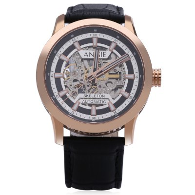 Angie ST7194 Fearless Series Male Automatic Wind Mechanical WatchMens Watches<br>Angie ST7194 Fearless Series Male Automatic Wind Mechanical Watch<br><br>Band Length: 7.87 inch<br>Band Material Type: Genuine Leather<br>Band Width: 22mm<br>Case material: Stainless Steel<br>Case Shape: Round<br>Clasp type: Pin Clasp<br>Dial Diameter: 1.65 inch<br>Dial Display: Analog<br>Dial Window Material Type: Sapphire<br>Feature: Luminous<br>Gender: Men<br>Movement: Automatic Self-Wind<br>Style: Sport<br>Water Resistance Depth: 50m<br>Product weight: 0.076 kg<br>Package weight: 0.098 kg<br>Product Size(L x W x H): 24.00 x 4.50 x 1.20 cm / 9.45 x 1.77 x 0.47 inches<br>Package Size(L x W x H): 25.00 x 5.50 x 2.20 cm / 9.84 x 2.17 x 0.87 inches<br>Package Contents: 1 x Angie ST7194 Fearless Series Male Automatic Wind Mechanical Watch