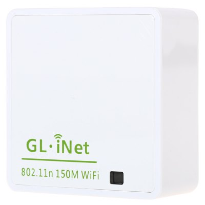 GL.iNet 6416A 150Mbps IEEE 802.11 b / g / n Wireless Router Atheros AR9331Wireless Routers<br>GL.iNet 6416A 150Mbps IEEE 802.11 b / g / n Wireless Router Atheros AR9331<br><br>Max. LAN Data Rate/Wi-Fi Transmission Rate: 150Mbs<br>Type: Wireless<br>Wireless: Yes<br>Product weight: 0.044 kg<br>Package weight: 0.114 kg<br>Package Size(L x W x H): 11.50 x 11.50 x 3.50 cm / 4.53 x 4.53 x 1.38 inches<br>Package Contents: 1 x Router, 1 x USB Power Wire, 1 x English Product Manual