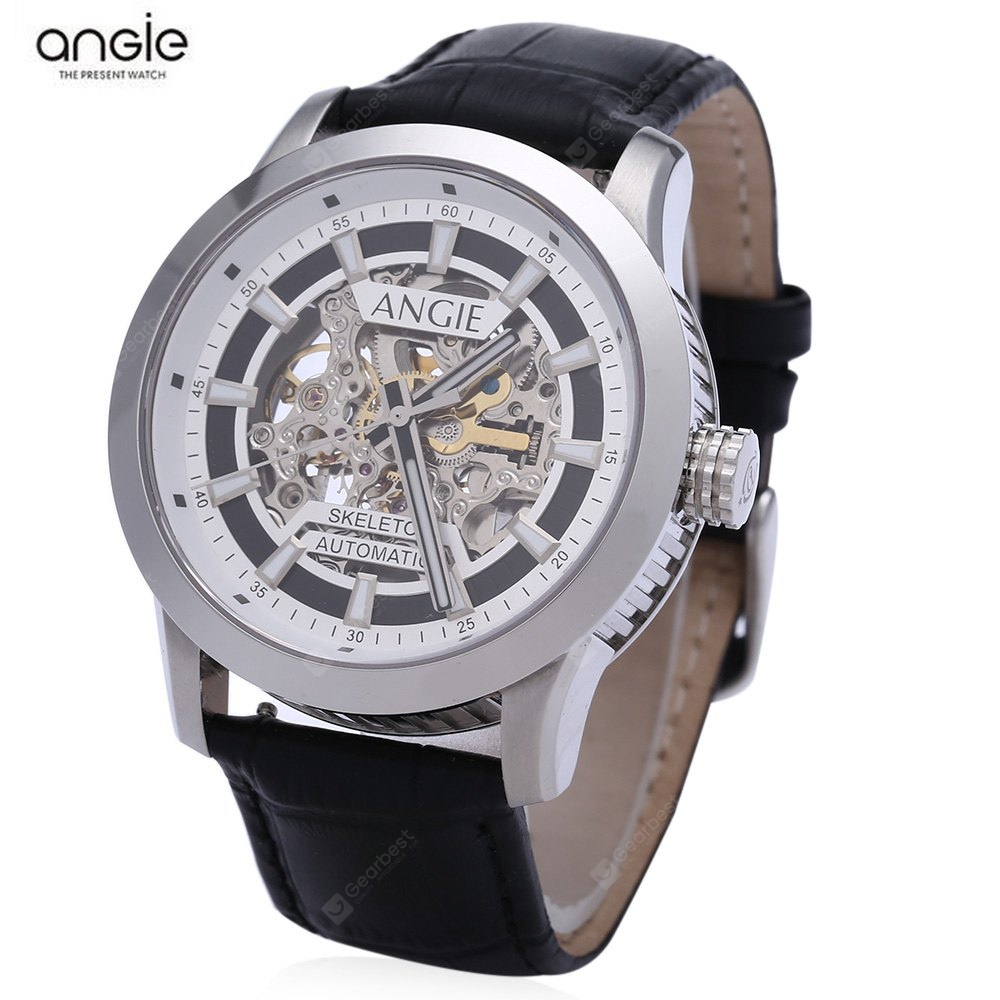 Angie ST7194 Fearless Series Male Automatic Wind Mechanical Watch SILVER