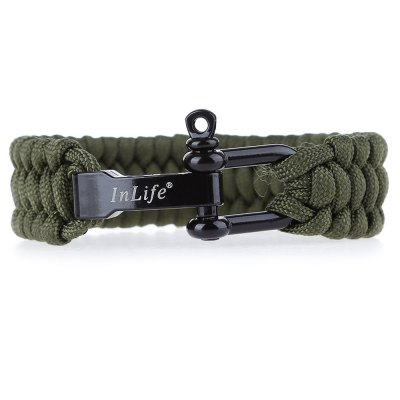 Inlife Emergency Paracord Outdoor Utility Bracelet with Complementary Lanyard Key Chain