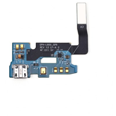 Flex Cable Microphone USB Charger Board for Samsung Galaxy Note 2 I605 / L900