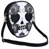 cheap Guapabien Women Skull Floral Heart Cat Zipper Head Mini Dual Purposes Shoulder Messenger Bag