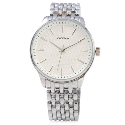 Sinobi 9586 Men Quartz WatchMens Watches<br>Sinobi 9586 Men Quartz Watch<br><br>Band Length: 8.11 inch<br>Band Material Type: Stainless Steel<br>Band Width: 20 mm<br>Case material: Alloy<br>Case Shape: Round<br>Clasp type: Folding Clasp with Safety<br>Dial Diameter: 1.27 inch<br>Dial Display: Analog<br>Dial Window Material Type: Glass<br>Gender: Men<br>Movement: Quartz<br>Style: Simple<br>Water Resistance Depth: 30m<br>Product weight: 0.098 kg<br>Package weight: 0.119 kg<br>Product Size(L x W x H): 20.60 x 4.50 x 0.90 cm / 8.11 x 1.77 x 0.35 inches<br>Package Size(L x W x H): 11.30 x 5.50 x 1.90 cm / 4.45 x 2.17 x 0.75 inches<br>Package Contents: 1 x Sinobi 9586 Men Quartz Watch