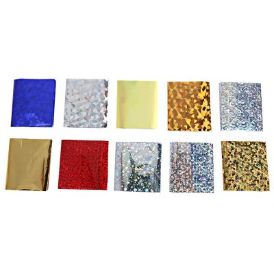 10pcs Water Transfer Nail Wraps Temporary Tattoos Watermark Manicure Star Stickers