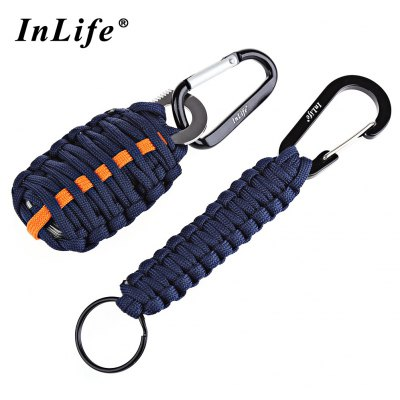 Inlife Emergency Paracord Outdoor Utility Fishing Tools with Lanyard Key Chain