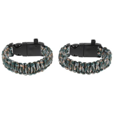 Inlife Compass Themomter Paracord Bracelet