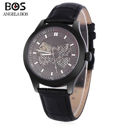Angela Bos 9015G Men Automatic Wind Mechanical Watch