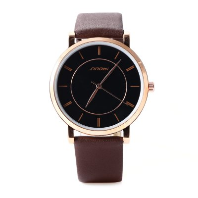 SINOBI 9600G Men Quartz WatchMens Watches<br>SINOBI 9600G Men Quartz Watch<br><br>Band Length: 7.68 inch<br>Band Material Type: Leather<br>Band Width: 18 mm<br>Case material: Alloy<br>Case Shape: Round<br>Clasp type: Pin Buckle<br>Dial Diameter: 1.57 inch<br>Dial Display: Analog<br>Dial Window Material Type: Glass<br>Gender: Men<br>Movement: Quartz<br>Style: Business,Dress,Simple,Sport<br>Water Resistance Depth: 30m<br>Product weight: 0.034 kg<br>Package weight: 0.059 kg<br>Product Size(L x W x H): 23.50 x 4.20 x 0.50 cm / 9.25 x 1.65 x 0.2 inches<br>Package Size(L x W x H): 24.50 x 5.20 x 1.50 cm / 9.65 x 2.05 x 0.59 inches<br>Package Contents: 1 x SINOBI 9600G Men Quartz Watch