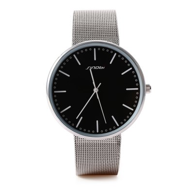 SINOBI 9601G Men Quartz WatchMens Watches<br>SINOBI 9601G Men Quartz Watch<br><br>Band Length: 7.35 inch<br>Band Material Type: Stainless Steel<br>Band Width: 18mm<br>Case material: Alloy<br>Case Shape: Round<br>Clasp type: Hook Buckle<br>Dial Diameter: 1.57 inch<br>Dial Display: Analog<br>Dial Window Material Type: Glass<br>Gender: Men<br>Movement: Quartz<br>Style: Business,Dress,Simple,Sport<br>Water Resistance Depth: 30m<br>Product weight: 0.050 kg<br>Package weight: 0.075 kg<br>Product Size(L x W x H): 22.00 x 4.30 x 0.60 cm / 8.66 x 1.69 x 0.24 inches<br>Package Size(L x W x H): 23.00 x 5.30 x 1.60 cm / 9.06 x 2.09 x 0.63 inches<br>Package Contents: 1 x SINOBI 9601G Men Quartz Watch