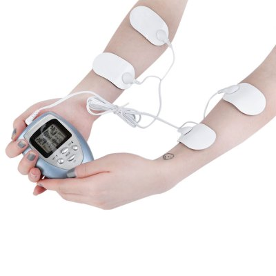 4 Pads Full Body Massager Slimming Electric Slim Pulse Muscle Relax Fat Burner