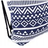 Women Ethnic Striped Geometric Print Tensibility Rope Canvas Backpack deal