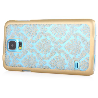 ФОТО Luxury Vintage Flower Pattern Protective Phone Transparent Case Back Cover for Samsung S5