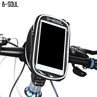 B-SOUL B - 015 Bicycle Bike Mount for 5.7 Inches Handlebar Phone Bag