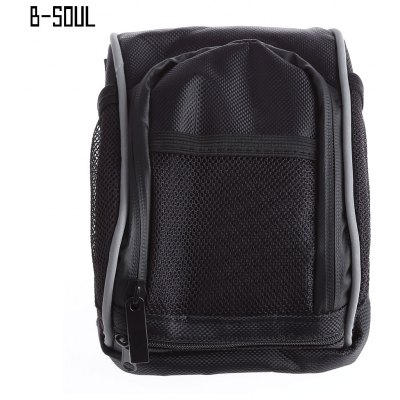 B - SOUL Cycling Bicycle Bike Quick Release Front Basket Pouch Handlebar Bag with Rain Cover