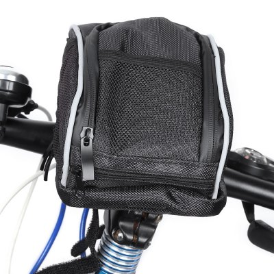 B - SOUL Bike Front Basket Pouch Handlebar Bag with Rain Cover