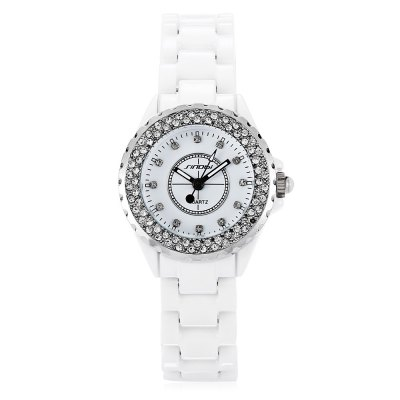 Sinobi 9688L Female Quartz WatchWomens Watches<br>Sinobi 9688L Female Quartz Watch<br><br>Band Length: 5.34 inch<br>Band Material Type: Ceramic<br>Band Width: 14mm<br>Case material: Alloy<br>Case Shape: Round<br>Clasp type: Hidden Buckle<br>Dial Diameter: 1.16 inch<br>Dial Display: Analog<br>Dial Window Material Type: Hardlex<br>Gender: Women<br>Movement: Quartz<br>Product weight: 0.062 kg<br>Package weight: 0.090 kg<br>Product Size(L x W x H): 16.50 x 3.00 x 1.00 cm / 6.5 x 1.18 x 0.39 inches<br>Package Size(L x W x H): 17.50 x 4.00 x 2.00 cm / 6.89 x 1.57 x 0.79 inches<br>Package Contents: 1 x Sinobi 9688L Female Quartz Watch