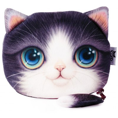 Guapabien Cartoon Cat Zipper Design Ladies Workmanship Change Purse