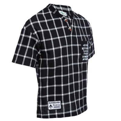 Street Style Stand Collar Short Sleeve Plaid Print Men BlouseMens Short Sleeve Tees<br>Street Style Stand Collar Short Sleeve Plaid Print Men Blouse<br><br>Collar: Stand-Up Collar<br>Color Style: Gradient<br>Fabric Type: Broadcloth<br>Material: Cotton Blends, Polyester<br>Package Contents: 1 x Blouse<br>Pattern Type: Plaid<br>Sleeve Length: Short<br>Style: Streetwear<br>Type: Regular<br>Weight: 0.2470kg