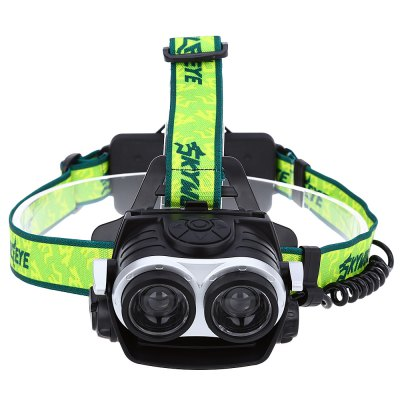 SKYWOLFEYE LED Double Head HeadlampHeadlights<br>SKYWOLFEYE LED Double Head Headlamp<br><br>Battery Type: Lithium Ion<br>Body Color: Black,Green<br>Light Source: LED<br>Model of LED Beads: T6<br>Switch Mode: High/Low,Strobe<br>Waterproof: No<br>Wattage: 1000lumen<br>Product weight: 0.201 kg<br>Package weight: 0.261 kg<br>Package Size(L x W x H): 12.00 x 12.00 x 10.00 cm / 4.72 x 4.72 x 3.94 inches<br>Package Contents: 1 x Headlamp, 1 x USB Cable