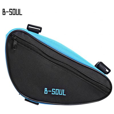 B - SOUL Portable Mountain Bicycle Handlebar Triangle Bag