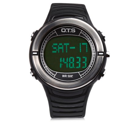 OTS 7019G Men LED Digital Sport WatchMens Watches<br>OTS 7019G Men LED Digital Sport Watch<br><br>Band Length: 8.85 inch<br>Band Material Type: Rubber<br>Band Width: 22 mm<br>Case material: Rubber<br>Case Shape: Round<br>Clasp type: Pin Buckle<br>Dial Diameter: 1.73 inch<br>Dial Display: Digital<br>Dial Window Material Type: Glass<br>Feature: Alarm,Chronograph,Date,Day,Heart rate monitor,Led Display<br>Gender: Men<br>Movement: Digital<br>Style: Business,Sport<br>Water Resistance Depth: 50m<br>Product weight: 0.060 kg<br>Package weight: 0.172 kg<br>Product Size(L x W x H): 25.60 x 4.70 x 1.40 cm / 10.08 x 1.85 x 0.55 inches<br>Package Size(L x W x H): 10.00 x 8.00 x 6.50 cm / 3.94 x 3.15 x 2.56 inches<br>Package Contents: 1 x OTS 7019G Men LED Digital Sport Watch