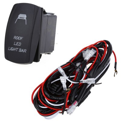 5pin 40A Car Relay Wiring Harness Loom Kit with LED Light Bar Laser Rocker Switch