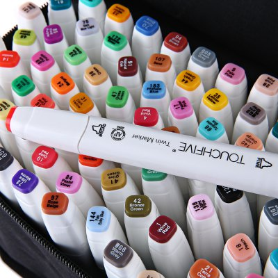TouchFive Colors Twin Tip Pen Marker PointPen &amp; Pencils<br>TouchFive Colors Twin Tip Pen Marker Point<br><br>Product weight: 1.254 kg<br>Package weight: 1.292 kg<br>Product Size(L x W x H): 15.00 x 1.50 x 1.00 cm / 5.91 x 0.59 x 0.39 inches<br>Package Size(L x W x H): 20.00 x 17.00 x 11.00 cm / 7.87 x 6.69 x 4.33 inches<br>Package Contents: 80 x TouchFive Colors Twin Marker Broad Fine Point, 1 x Bag