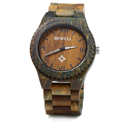 BEWELL ZS - W065A Wood Men Quartz Watch Roman Numeral Scales WristwatchMens Watches<br>BEWELL ZS - W065A Wood Men Quartz Watch Roman Numeral Scales Wristwatch<br><br>Band Length: 4.3 inch<br>Band Material Type: Wooden<br>Band Width: 24 mm<br>Case material: Wooden<br>Case Shape: Round<br>Clasp type: Folding clasp with safety<br>Dial Diameter: 1.81 inch<br>Dial Display: Analog<br>Dial Window Material Type: Glass<br>Gender: Men<br>Movement: Quartz<br>Style: Business,Simple,Sport<br>Product weight: 0.067 kg<br>Package weight: 0.128 kg<br>Product Size(L x W x H): 11.00 x 4.80 x 1.80 cm / 4.33 x 1.89 x 0.71 inches<br>Package Size(L x W x H): 7.00 x 7.00 x 7.00 cm / 2.76 x 2.76 x 2.76 inches<br>Package Contents: 1 x Bewell Men Quartz Watch