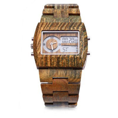 BEWELL ZS - W021A Male Dual Movt WatchMens Watches<br>BEWELL ZS - W021A Male Dual Movt Watch<br><br>Band Length: 9.25 inch<br>Band Material Type: Wooden<br>Band Width: 26mm<br>Case material: Wooden<br>Case Shape: Rectangle<br>Clasp type: Folding clasp with safety<br>Dial Diameter: 1.85 inch<br>Dial Display: Analog-Digital<br>Dial Window Material Type: Plastic<br>Feature: Alarm,Back Light,Date,Day,Led Display<br>Gender: Men<br>Movement: Digital,Quartz<br>Style: Simple<br>Product weight: 0.065 kg<br>Package weight: 0.161 kg<br>Product Size(L x W x H): 23.50 x 4.70 x 1.50 cm / 9.25 x 1.85 x 0.59 inches<br>Package Size(L x W x H): 8.00 x 8.00 x 8.00 cm / 3.15 x 3.15 x 3.15 inches<br>Package Contents: 1 x BEWELL ZS - W021A Men Dual Movt Watch, 1 x Watch Case