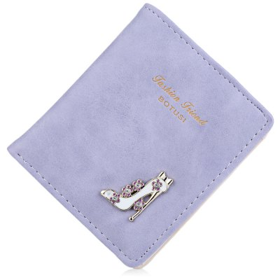 Lady High Heeled Shoes Flower Letter Rhinestone Solid Color Hasp Short WalletWomens Wallets<br>Lady High Heeled Shoes Flower Letter Rhinestone Solid Color Hasp Short Wallet<br><br>Wallets Type: Clutch Wallets<br>Gender: For Women<br>Style: Fashion<br>Closure Type: Hasp<br>Pattern Type: Solid<br>Main Material: PU Leather<br>Hardness: Soft<br>Interior: Interior Slot Pocket<br>Embellishment: Letter<br>Height: 10.6 cm / 4.17 inch<br>Width: 1.3 cm / 0.51 inch<br>Length(CM): 9 cm / 3.54 inch<br>Product weight: 0.057 kg<br>Package weight: 0.081 kg<br>Package size (L x W x H): 9.50 x 1.80 x 11.10 cm / 3.74 x 0.71 x 4.37 inches<br>Package Contents: 1 x Wallet
