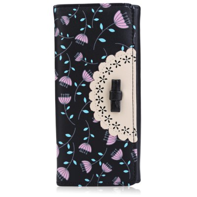 Lady Bowknot Floral Hasp Vertical Long Clutch WalletLady Bowknot Floral Hasp Vertical Long Clutch Wallet<br><br>Wallets Type: Clutch Wallets<br>Gender: For Women<br>Style: Fashion<br>Closure Type: Hasp<br>Pattern Type: Floral<br>Main Material: PU Leather<br>Hardness: Soft<br>Interior: Interior Slot Pocket<br>Embellishment: Bowknot<br>Height: 18.3 cm / 7.20 inch<br>Width: 3 cm / 1.18 inch<br>Length(CM): 9.5 cm / 3.74 inch<br>Product weight: 0.141 kg<br>Package weight: 0.167 kg<br>Package size (L x W x H): 10.00 x 3.50 x 18.80 cm / 3.94 x 1.38 x 7.4 inches<br>Package Contents: 1 x Wallet