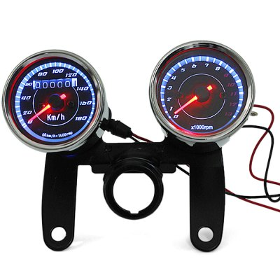 B714B716 Z Motorcycle Scooter Dual Color LED Back Lights Speedometer Tachometer Odometer 13000Rpm