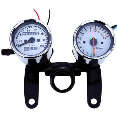 B715B717 Z Dual Color Backlight LED Motorcycle Speedometer Odometer Tachometer 13000 Rpm