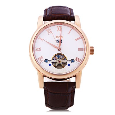 Angela Bos 9005G Men Automatic Wind Mechanical WatchMens Watches<br>Angela Bos 9005G Men Automatic Wind Mechanical Watch<br><br>Band Length: 9.06 inch<br>Band Material Type: Genuine Leather<br>Band Width: 22mm<br>Case material: Stainless Steel<br>Case Shape: Round<br>Clasp type: Butterfly Clasp<br>Dial Diameter: 1.57 inch<br>Dial Display: Analog<br>Dial Window Material Type: Sapphire<br>Feature: Date<br>Gender: Men<br>Movement: Automatic Self-Wind<br>Style: Business<br>Water Resistance Depth: 30m<br>Product weight: 0.099 kg<br>Package weight: 0.121 kg<br>Product Size(L x W x H): 27.00 x 4.50 x 1.00 cm / 10.63 x 1.77 x 0.39 inches<br>Package Size(L x W x H): 28.00 x 5.50 x 2.00 cm / 11.02 x 2.17 x 0.79 inches<br>Package Contents: 1 x Angela Bos 9005G Men Automatic Wind Mechanical Watch