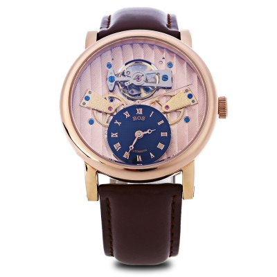 Angela Bos 9006G Male Automatic Wind Mechanical WatchMens Watches<br>Angela Bos 9006G Male Automatic Wind Mechanical Watch<br><br>Band Length: 8.27 inch<br>Band Material Type: Genuine Leather<br>Band Width: 20mm<br>Case material: Stainless Steel<br>Case Shape: Round<br>Clasp type: Pin Clasp<br>Dial Diameter: 1.57 inch<br>Dial Display: Analog<br>Dial Window Material Type: Sapphire<br>Gender: Men<br>Movement: Automatic Self-Wind<br>Style: Business<br>Water Resistance Depth: 30m<br>Product weight: 0.083 kg<br>Package weight: 0.105 kg<br>Product Size(L x W x H): 24.50 x 4.50 x 1.50 cm / 9.65 x 1.77 x 0.59 inches<br>Package Size(L x W x H): 25.50 x 5.50 x 2.50 cm / 10.04 x 2.17 x 0.98 inches<br>Package Contents: 1 x Angela Bos 9006G Men Automatic Wind Mechanical Watch