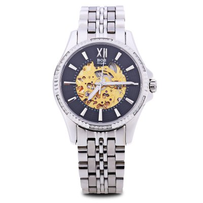 Angela Bos 9010G Men Automatic Wind Mechanical WatchMens Watches<br>Angela Bos 9010G Men Automatic Wind Mechanical Watch<br><br>Band Length: 8.66 inch<br>Band Material Type: Stainless Steel<br>Band Width: 18mm<br>Case material: Stainless Steel<br>Case Shape: Round<br>Clasp type: Butterfly Clasp<br>Dial Diameter: 1.57 inch<br>Dial Display: Analog<br>Dial Window Material Type: Sapphire<br>Feature: Luminous<br>Gender: Men<br>Movement: Automatic Self-Wind<br>Style: Business<br>Water Resistance Depth: 30m<br>Product weight: 0.134 kg<br>Package weight: 0.156 kg<br>Product Size(L x W x H): 22.00 x 4.50 x 1.20 cm / 8.66 x 1.77 x 0.47 inches<br>Package Size(L x W x H): 12.00 x 5.50 x 2.20 cm / 4.72 x 2.17 x 0.87 inches<br>Package Contents: 1 x Angela Bos 9010G Men Automatic Wind Mechanical Watch
