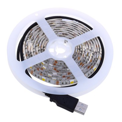 5V 2M LED Strip Tape Waterproof Lamp with USB CableLED Strips<br>5V 2M LED Strip Tape Waterproof Lamp with USB Cable<br><br>Power Source: DC<br>Shape: DIY<br>Wattage: 9.6W<br>Product weight: 0.081 kg<br>Package weight: 0.097 kg<br>Product Size(L x W x H): 13.00 x 13.00 x 1.00 cm / 5.12 x 5.12 x 0.39 inches<br>Package Size(L x W x H): 15.50 x 16.50 x 2.00 cm / 6.1 x 6.5 x 0.79 inches<br>Package Contents: 1 x 5V 2M LED Strip Tape Waterproof Lamp with USB Cable