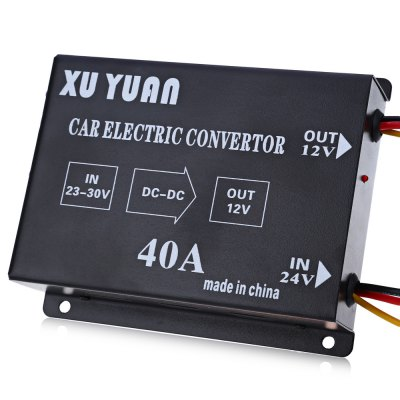 40A DC 24V to 12V Car Power Supply TransformerOther Car Gadgets<br>40A DC 24V to 12V Car Power Supply Transformer<br><br>Type (Fire Safety): DC 24V to 12V Car Power Supply Transformer<br>Product weight: 0.662 kg<br>Package weight: 0.750 kg<br>Product Size(L x W x H): 16.00 x 13.50 x 4.20 cm / 6.3 x 5.31 x 1.65 inches<br>Package Size(L x W x H): 18.50 x 14.00 x 4.50 cm / 7.28 x 5.51 x 1.77 inches<br>Package Contents: 1 x DC 24V to 12V Car Power Supply Transformer, 1 x Bilingual User Manual in English and Chinese