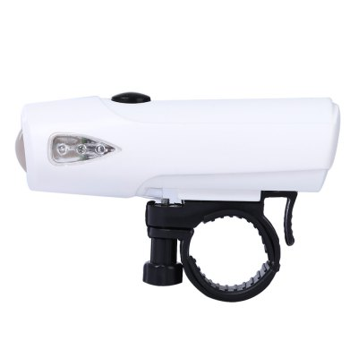 Outdoor Bicycle Water Resistant 3 Modes LED Safety Front Light