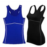 cheap Female Fitness Waistcoat Vest Sleeveless Shirt Sport Clothes