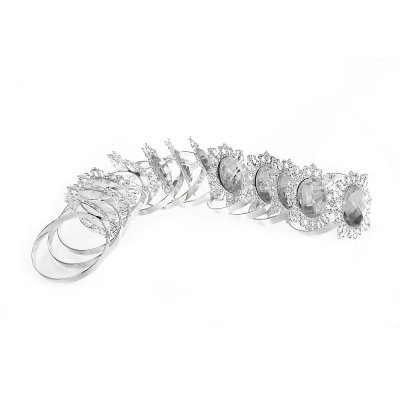 12pcs Acrylic Silver-plated Napkin Ring